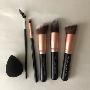 make up brush set & beauty blender